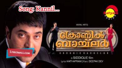 Photo of Kannil Nilaavu Lyrics | Chronic Bachelor Malayalam Movie Songs Lyrics