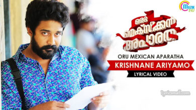 Photo of Krishnane Ariyamo Song Lyrics | Oru Mexican Aparatha Songs Lyrics