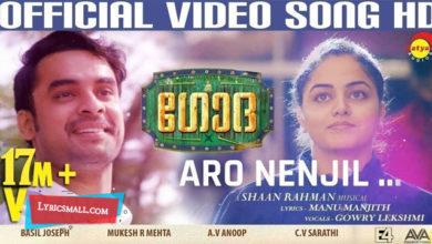 Photo of Aaro Nenjil Song Lyrics | Godha Malayalam Movie Aaro Nenjil Song Lyrics