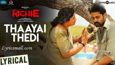 Photo of Thaayai Thedi Song Lyrics | Richie Tamil Movie Song Lyrics