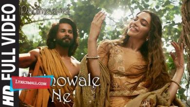 Photo of Nainowale Ne Song Lyrics | Padmaavat Hindi Movie Nainowale Ne Lyrics
