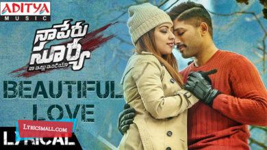 Photo of Beautiful Love Song Lyrics | Naa Peru Surya Naa illu India Movie Lyrics