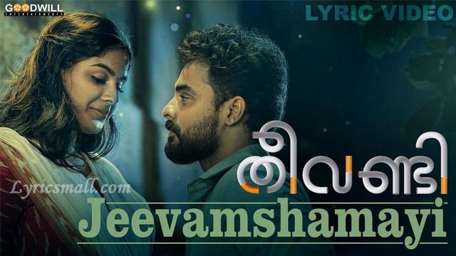 Photo of Jeevamshamayi Song Lyrics | Theevandi Movie Songs Lyrics