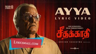 Photo of Ayya Lyrics | Seethakaathi Tamil Movie Songs Lyrics