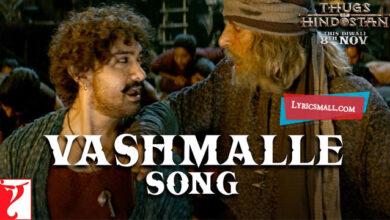 Photo of Vashmalle Lyrics | Thugs Of Hindostan Movie Song Lyrics