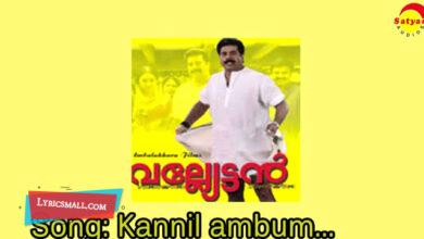 Photo of Kannilambum Villum Lyrics | Valliettan Movie Songs Lyrics