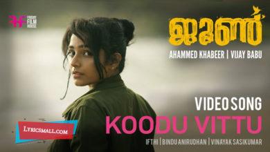 Photo of Koodu Vittu Lyrics   June Malayalam Movie Songs Lyrics