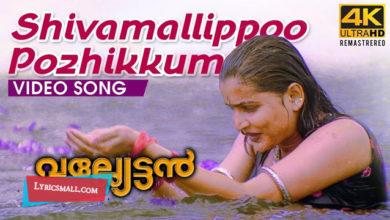 Photo of Shivamallippoo Pozhikkum Lyrics | Valliettan Movie Songs Lyrics