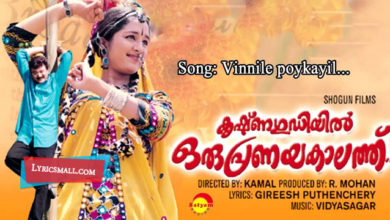Photo of Vinnile Lyrics   Krishnagudiyil Oru Pranayakalathu Movie Songs Lyrics
