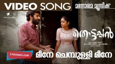 Photo of Meene Chembulli Meene Lyrics | Thottappan Movie Songs Lyrics
