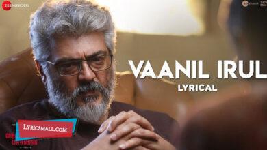 Photo of Vaanil Irul Lyrics | Nerkonda Paarvai Tamil Movie Songs Lyrics