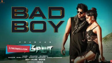 Photo of Bad Boy Lyrics | Saaho Tamil Movie Songs Lyrics