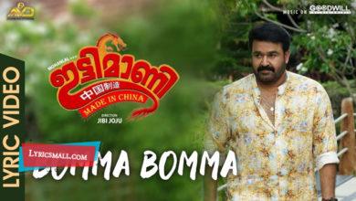 Photo of Bomma Bomma Lyrics | Ittymaani Made In China Malayalam Songs Lyrics