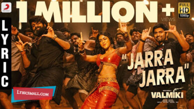 Photo of Jarra Jarra Lyrics | Valmiki Telugu Movie Songs Lyrics