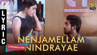 Photo of Nenjamellam Nindrayae Lyrics | 100 Percent Kadhal Movie Song Lyrics