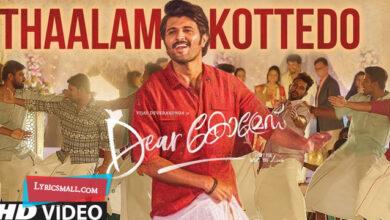 Photo of Thaalam Kottedo Lyrics | Dear Comrade Malayalam Movie Songs Lyrics