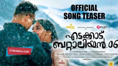Photo of Nee Himamazhayayi Lyrics | Edakkad Battalion 06 Malayalam Movie Songs Lyrics
