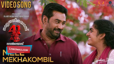 Photo of Mele Meghakkombil Lyrics | Nalpathiyonnu (41) Malayalam Movie Songs Lyrics