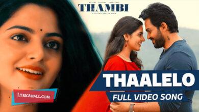 Photo of Thaalelo Lyrics | Thambi Tamil Movie Songs Lyrics