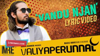 Photo of Vandu Njan Lyrics | Valiyaperunnal Malayalam Movie Songs Lyrics