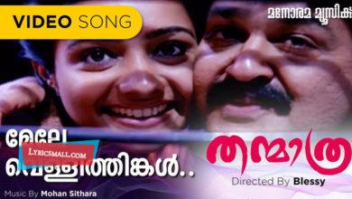 Photo of Mele Vellithingal Lyrics | Thanmaathra Malayalam Movie Songs Lyrics