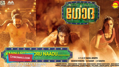 Photo of Kannanjunnoru Naadu Lyrics | Godha Malayalam Movie Song Lyrics