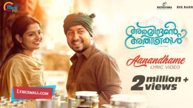 Photo of Aanandhame Lyrics | Aravindante Athidhikal Movie Songs Lyrics