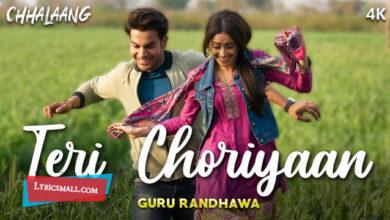 Photo of Teri Choriyaan Lyrics | Chhalaang Hindi Movie Songs Lyrics