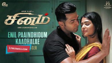 Photo of Enil Paaindhidum Kaadhalae Lyrics | Sinam Tamil Movie Songs Lyrics
